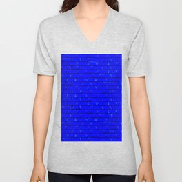 The Bright Blue Brick Wall Background Unisex V-Neck