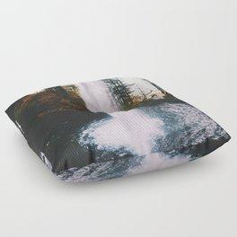 Behind The Falls Floor Pillow