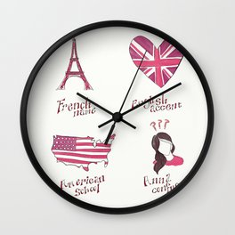 French name, English accent, American school. Anna confused. Wall Clock