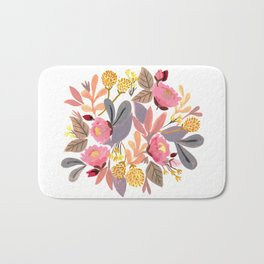 Winter Floral Bath Mat