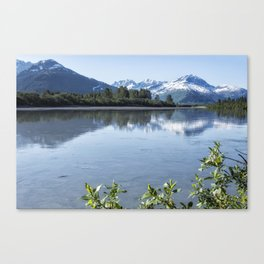 Placer River at the Bend in Turnagain Arm, No. 1 Canvas Print
