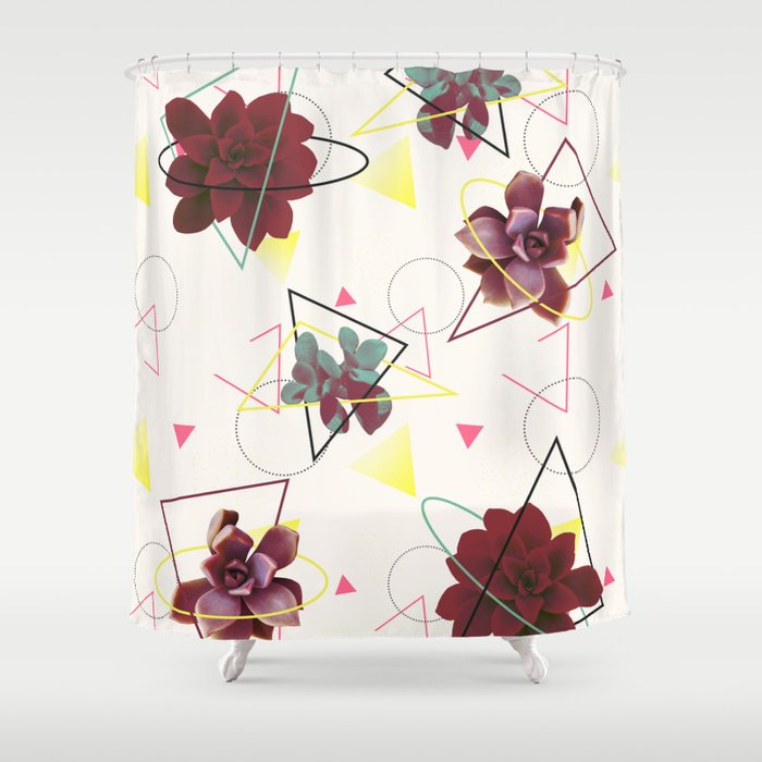Spatial Succulents Redbubble Decor Buyart Shower Curtain By