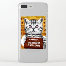 Masturbation is not a crime Clear iPhone Case
