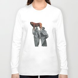 plato n aristotle walking their doge Long Sleeve T-shirt