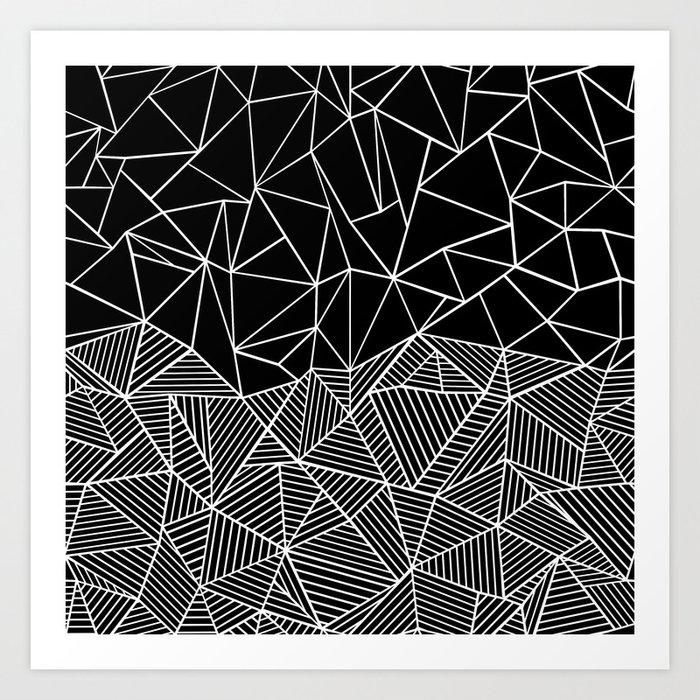 Ab Half and Half Black Art Print