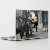 backpack Laptop & iPad Skins featuring Bikes and backpack by RMK Creative
