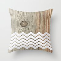 woody Throw Pillows featuring WOODY by Monika Strigel
