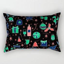Black Christmas pattern gift idea Rectangular Pillow