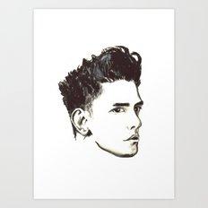Xavier Dolan - B&W Art Print