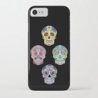 sugar skulls iPhone & iPod Cases featuring Sugar Skulls by katherinejago