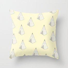 Tents Throw Pillow