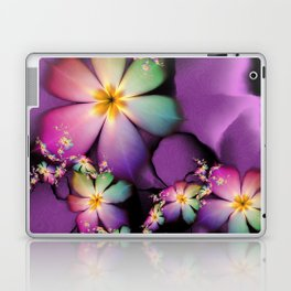 Rainbow Flowers Growing in Purple Clouds Laptop & iPad Skin