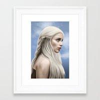 khaleesi Framed Art Prints featuring Khaleesi (Blue Sky) by Jason Cumbers