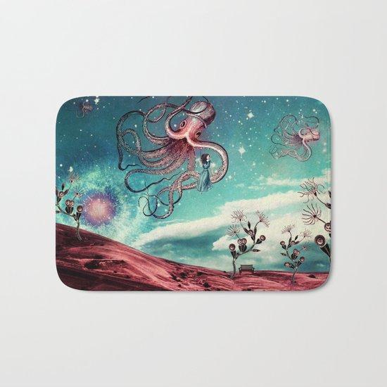 Sunrise Flight on Purple Planet Bath Mat