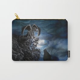 Wolfmoon , Wolf with Golem Carry-All Pouch