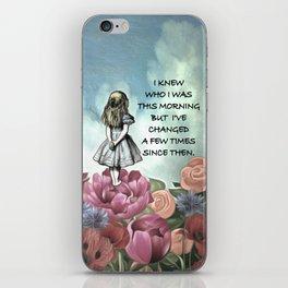 Wondering Alice - Alice In Wonderland Quote iPhone Skin