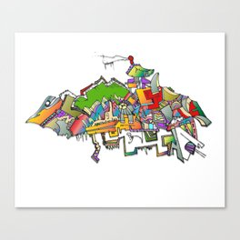the bird enhanced Canvas Print
