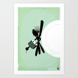 "Glue Network Print Series ""Hunger"" Art Print"