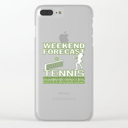 WEEKEND FORECAST TENNIS Clear iPhone Case