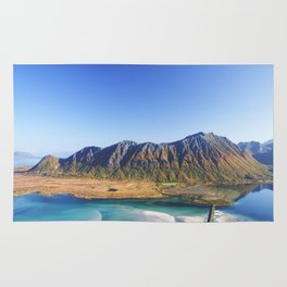 Hiking with a view Rug