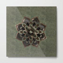 Wonderful noble mandala design Metal Print