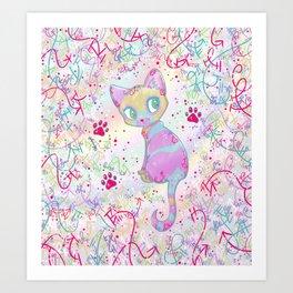 Mystical Little Kitty Art Print