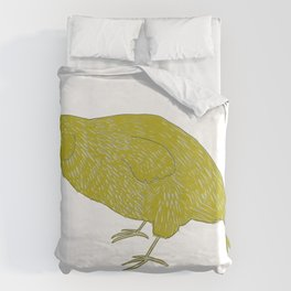 Kakapo Says Hello! Duvet Cover
