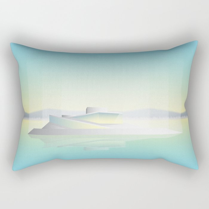 Oslo Opera House Rectangular Pillow