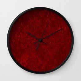 Red Crushed Velvet Wall Clock