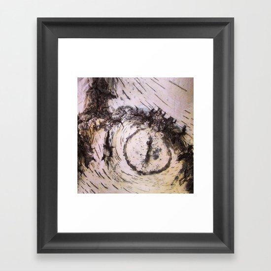 White Birch Eye Framed Art Print