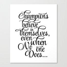 "Printable Wall Art Quotes, warming present, thank you gift, Art Prints, ""Champions"", winner, Modern Canvas Print"