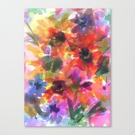Sunflower Carnival Canvas Print