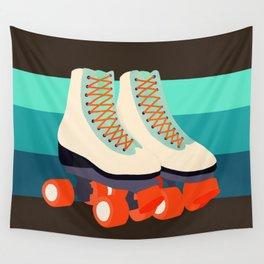 Retro Roller Skates Wall Tapestry