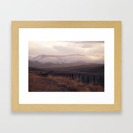 Rocky Mountain Sunset Framed Art Print