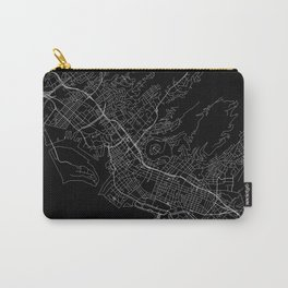 Honolulu Black Map Carry-All Pouch