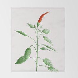 Little Hot Chili Pepper Plant Throw Blanket