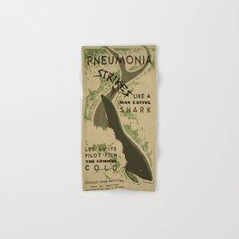 Vintage poster - Pneumonia Hand & Bath Towel