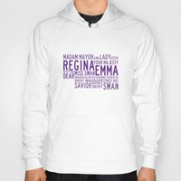 ouat Hoodies featuring Swan Queen Nicknames - Purple (OUAT) by CLM Design