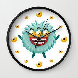 3 eyed monster Wall Clock