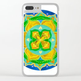 Opening the Heart Mandala Clear iPhone Case