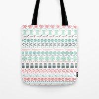 sewing Tote Bags featuring Sewing by Heleen van Buul
