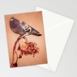 Pigeon Sunflower Autumn Stationery Cards