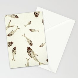 Fish fossils Stationery Cards