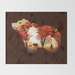 Bears in the Woods Throw Blanket