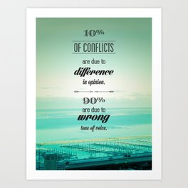 CONFLICTS Art Print
