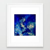 angels Framed Art Prints featuring angels by  Agostino Lo Coco