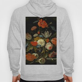 """Abraham Mignon """"Flowers in a glass vase, with snails and insects, in a niche"""" Hoody"""