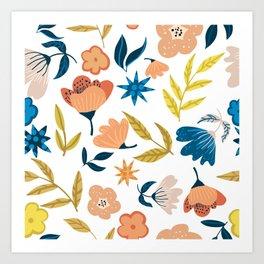 Ahana #illustration #floral Art Print