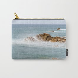 Waves splashing against rocks Carry-All Pouch