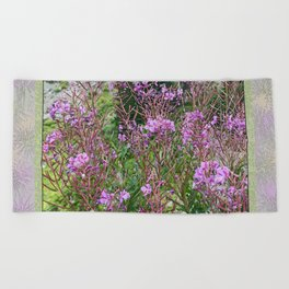 FIREWEED GOING TO LATE SUMMER SEED Beach Towel